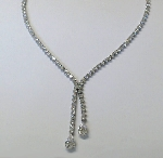 Collier Silber 925/- mit sy.Zirkonia - 28595