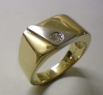 Brillant Herren-Ring Gold 585/-G/W - 1-8998