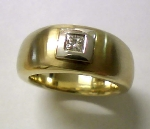 Diamant Herren Ring Gold 585/-G/W - 8-36